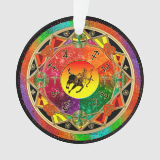 Tierkreis-Zeichen-Schütze-Mandala Ornament