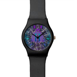 Tierkreis-Zeichen-Zwillings-Mandala Uhr
