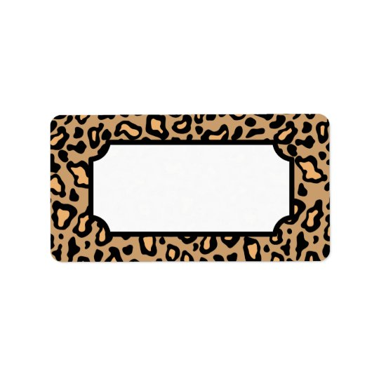 Tierleopard-Druck-Aufkleber Adressaufkleber