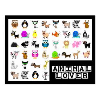 Tierliebhaber-Postkarte Postkarte