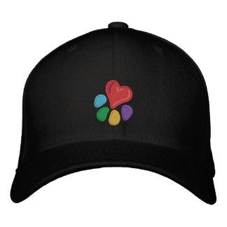 TierLover_Heart-Paw (mit Höhepunkten) Bestickte Kappe