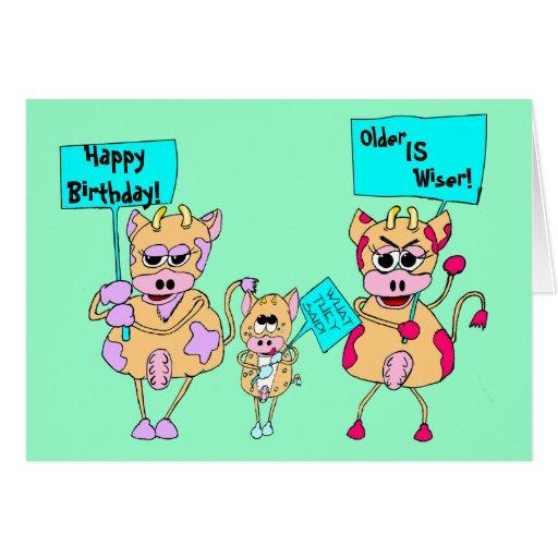 TierProtestierender; Alles Gute zum Geburtstag! , Grußkarte