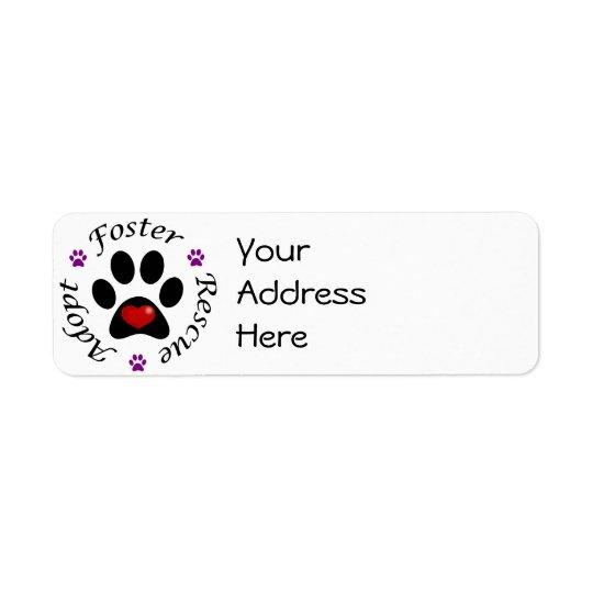 Tierrettungs-Adressen-Etiketten