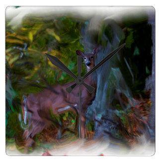 Tierrotwild-Überfahrt Quadratische Wanduhr
