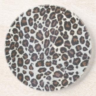 Tiersafaridruck-Reihe - Leopard Untersetzer