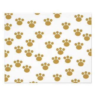 Tiertatzen-Drucke. Brown und weißes Muster 11,4 X 14,2 Cm Flyer