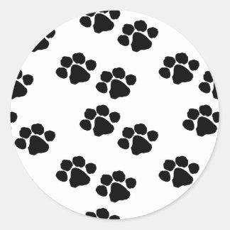 Tiertatzen-Drucke Runder Aufkleber