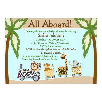 Tierzug-Babyparty-Einladung Karte