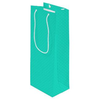 Tiffany-Aqua-Blau gestepptes Muster Geschenktüte Für Weinflaschen