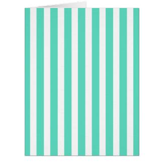 Tiffany-Aqua-blaue Seemann-Streifen Karte