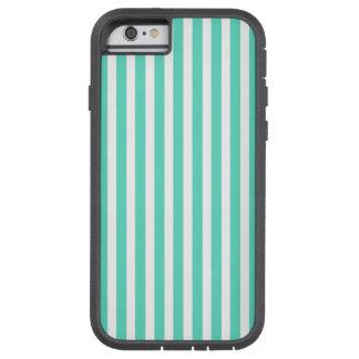 Tiffany-Aqua-blaue Seemann-Streifen Tough Xtreme iPhone 6 Hülle