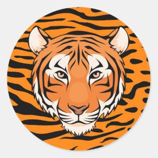 Tiger-Aufkleber (Kreis) - gehen Tiger wilde! Runder Aufkleber