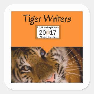 Tiger-Aufkleber! Quadratischer Aufkleber
