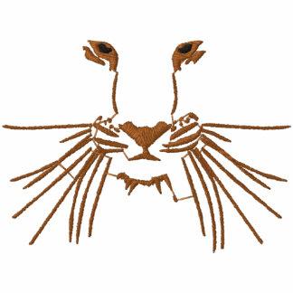 Tiger-Augen Besticktes Hoodie