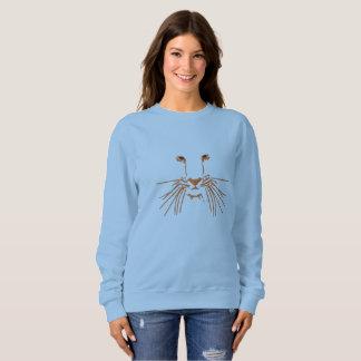 Tiger-Augen Besticktes Sweatshirt