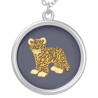Tiger CUB Versilberte Kette
