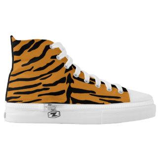 Tiger-Druck Hallo-Spitze Turnschuh Hoch-geschnittene Sneaker
