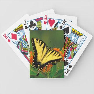 Tiger-Frack auf Schmetterlings-Unkraut-Spielkarten Spielkarten