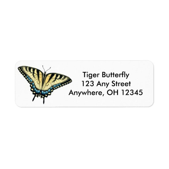 Tiger-Frack-Schmetterlings-Aufkleber
