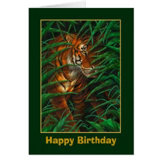 Tiger-Geburtstags-Karte Karte