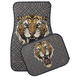 Tiger-Gesichts-Tätowierung Autofußmatte