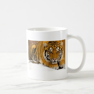 Tiger im Schnee bereit anzugreifen Kaffeetasse