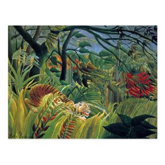 Tiger in einem tropischen Sturm (überrascht) Postkarten
