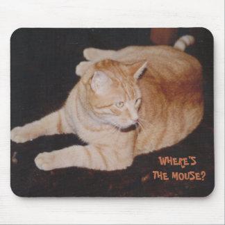 Tiger-Katze wartete Maus Mousepad