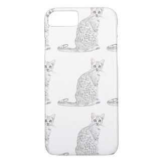 Tiger-Katzen-Aquarell iPhone 7 Hülle