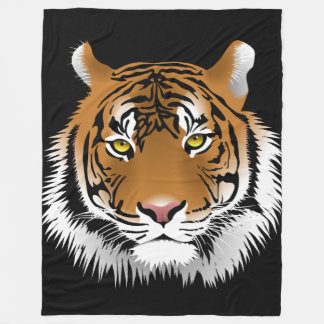 Tiger-kundenspezifische Fleece-Decke, groß Fleecedecke