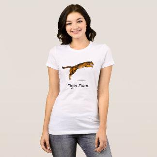 Tiger-Mamma-T-Shirt - moderner Springentiger T-Shirt