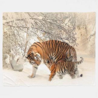 Tiger-Mutter-und kundenspezifische Fleece-Decke Fleecedecke