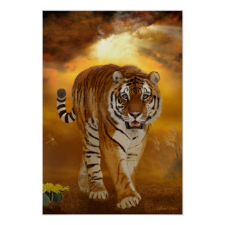 Tiger - nach dem Sturm-Kunst-/Plakat-Druck