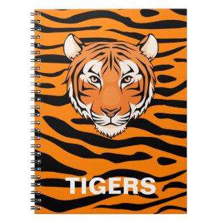 Tiger-Notizbuch - für diesen Tigerfan in Ihrem Spiral Notizblock