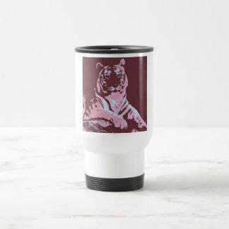 Tiger-Pop-Kunst Edelstahl Thermotasse