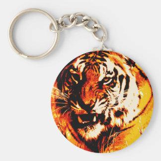 Tiger-Porträt Schlüsselanhänger