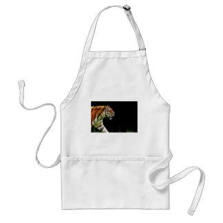 Tiger-Raubpelz-schöne gefährliche Katze Schürze
