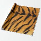 Tiger-Safari-Pelz VIP Tierhaut-Browns schwarzer Geschenkpapier