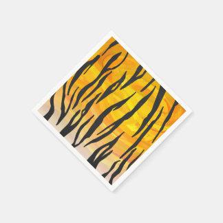 Tiger-schwarzer und orange Druck Papierserviette