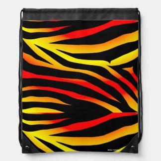 Tiger-Streifen-Tierdruck-Musterdrawstring-Tasche Turnbeutel