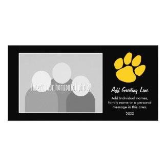 Tiger-Tatzen-Druck - Sport-Fan oder Abschluss Individuelle Foto Karte