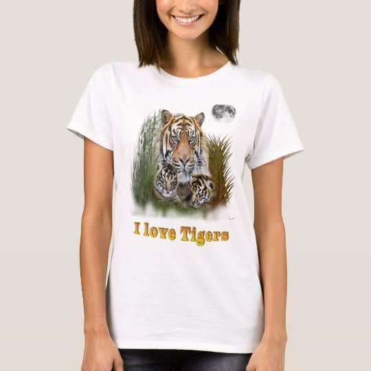 Tiger und Junge T-Shirt