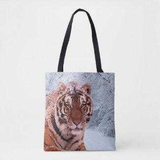 Tiger und Schnee Tasche