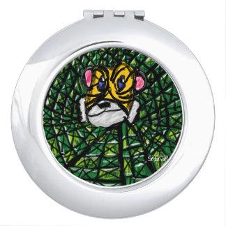 Tiger und Smaragde Schminkspiegel