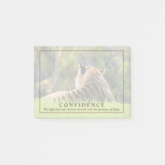 Tiger-Vertrauens-Zitat-Gewohnheit Post-it Klebezettel