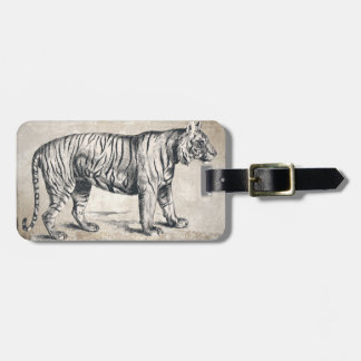 Tiger-Vintager wild lebende TiereGrunge dekorativ Gepäckanhänger