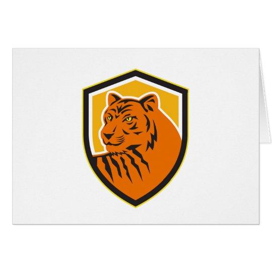 Tiger-vorderes HauptWappen Retro Grußkarte