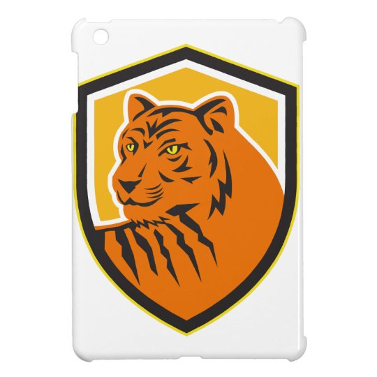 Tiger-vorderes HauptWappen Retro Hülle Für iPad Mini