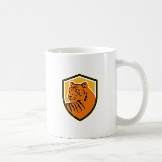 Tiger-vorderes HauptWappen Retro Kaffeetasse