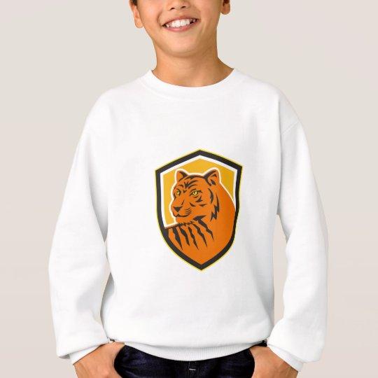 Tiger-vorderes HauptWappen Retro Sweatshirt